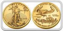USA Gold Eagle Coin 91.67% Pure