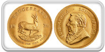 South Africa Krugerrand Gold Coin 91.7%
