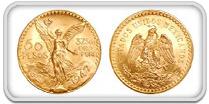 Mexico Pesos Gold Coins 90% Pure